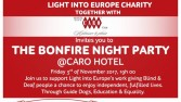 Light into Europe invites you to Bonfire night 2017