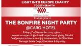 Light into Europe invites you to Bonfire night 2017
