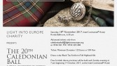 Light into Europe invites you to Caledonian Ball 2017