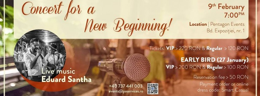 PA Services & Events organizes  Concert for a new beggining for Casa Ioana